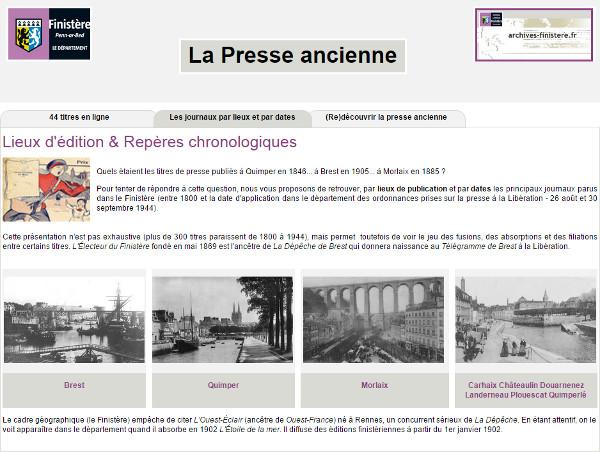 La presse quotidienne une source in puisable - Presse ancienne morbihan ...
