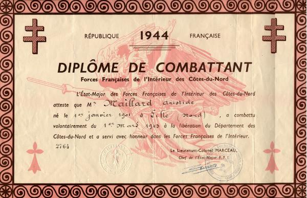 Non à la fermeture du Musée de la Résistance bretonne  Diplome